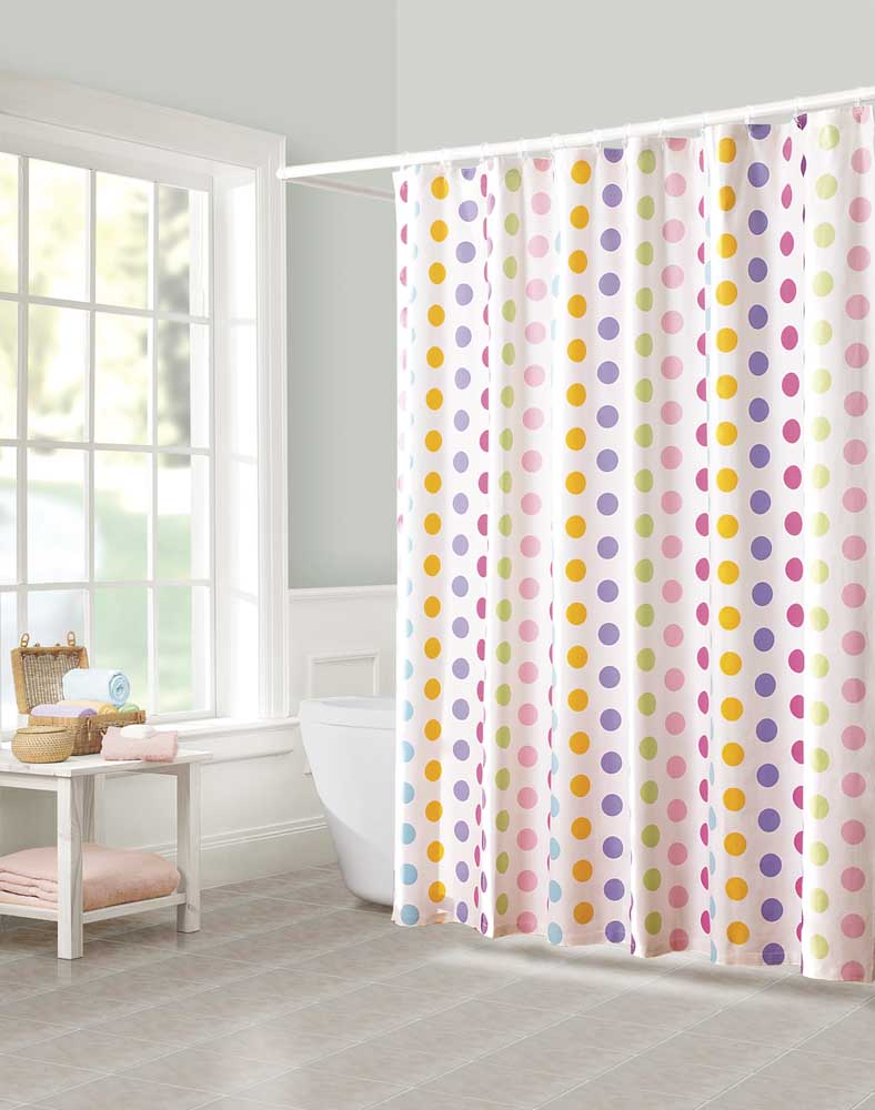 polka dot curtains