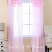 sheer pink ruffled curtains