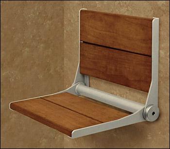 Plastic shower seat